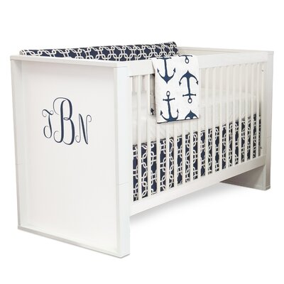 2-in-1 Convertible Crib with Storage Color: Navy