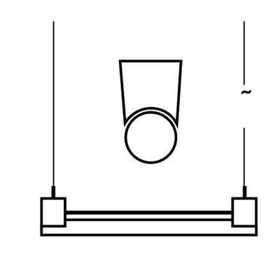 Top Light Pendelleuchte 2-flammig Linea Socket