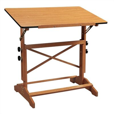 """Pavillon Drafting Table Size: 24"""" x 36"""", Desk Finish: Cherry"""