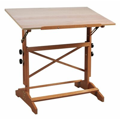 "Pavillon Drafting Table Size: 31"" x 42"", Desk Finish: Unfinished Wood"