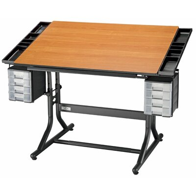 CraftMaster II Drafting Table Color: Black Base & Cherry Top