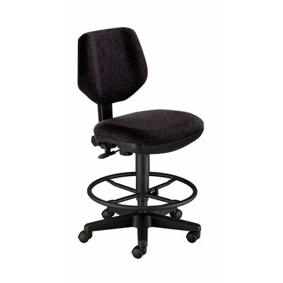 Deluxe Mid-Back Drafting Chair Upholstery: Black
