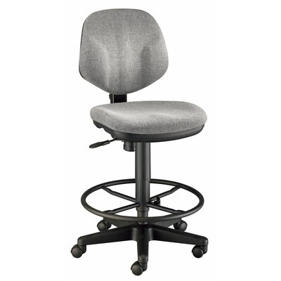 Deluxe Mid-Back Drafting Chair Upholstery: Gray