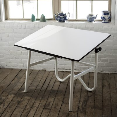 """Onyx Drafting Table Color: White, Size: 42"""" W x 30"""" D"""