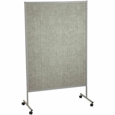 Best-Rite® Portable Art Silver Hook and Loop Mobile 7' H x 4' W Free Standing Bulletin Board