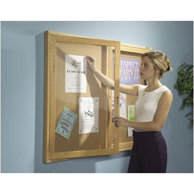 Best-Rite® Enclosed Bulletin Board, 3' H x 4' W