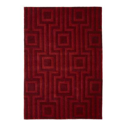 Phoenox Rugs Origin Hand-Tufted Red Area Rug