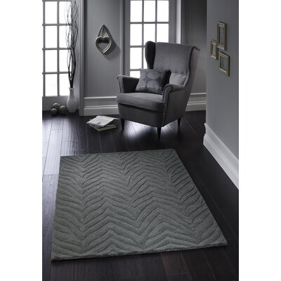 Phoenox Rugs Origin Hand-Tufted Charcoal Area Rug
