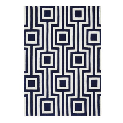 Phoenox Rugs Origin Hand-Tufted Blue Area Rug