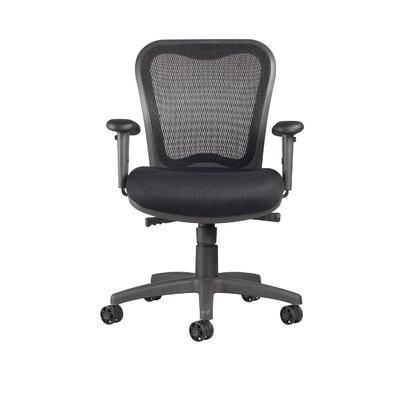 LXO Mid-Back Mesh Desk Chair Upholstery: Mystic Black