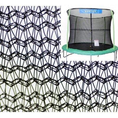 10' Round Trampoline Net Using 4 Poles