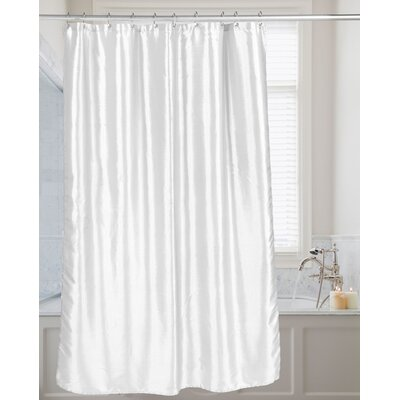 Highgate Faux Silk Shower Curtain Color: White
