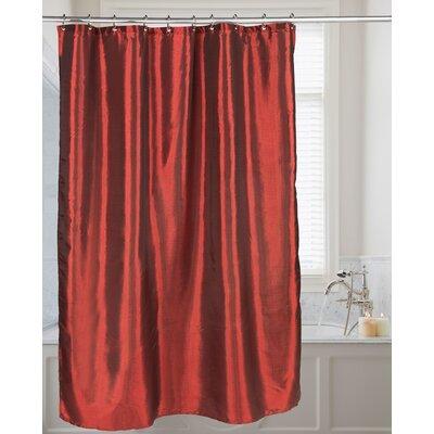 Highgate Faux Silk Shower Curtain Color: Ruby