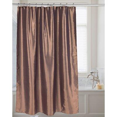Highgate Faux Silk Shower Curtain Color: Bronze
