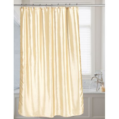 Highgate Faux Silk Shower Curtain Color: Ivory