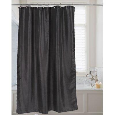 Highgate Faux Silk Shower Curtain Color: Black