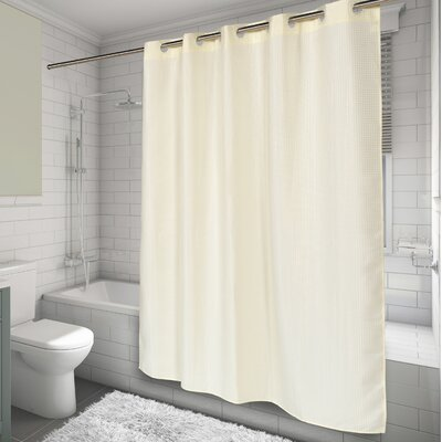 Hammitt Waffle Weave Shower Curtain Color: Ivory