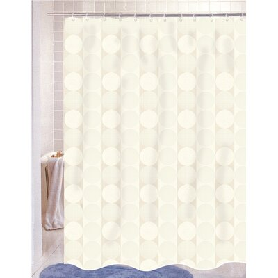 Nalley Jacquard Shower Curtain Color: Ivory