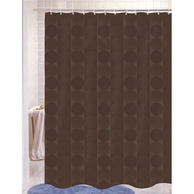 Nalley Jacquard Shower Curtain Color: Brown