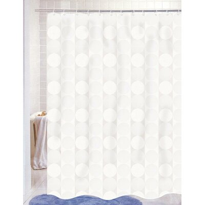 Nalley Jacquard Shower Curtain Color: White