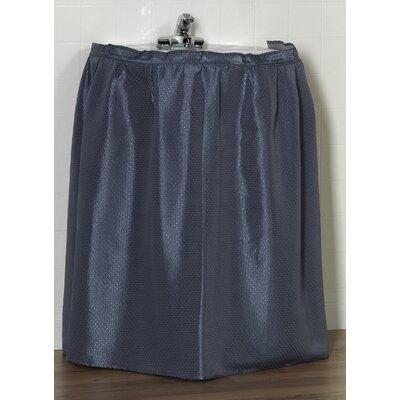 Esther 100% Polyester Dobby Sink Skirt Color: Slate Blue