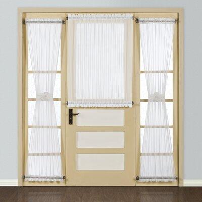 United Curtain Co. Batiste Half Rod Pocket Door Single Curtain Panel