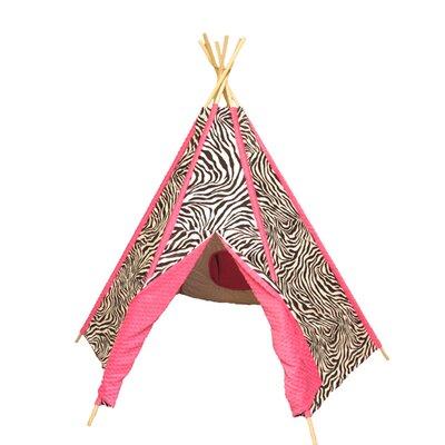 Hot Pink Zebra Play Teepee