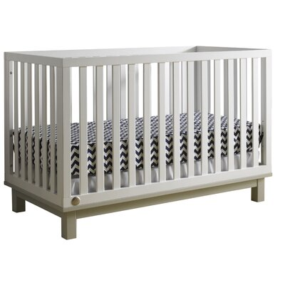 Riley Island 3-in-1 Convertible Crib Color: Misty Grey / Snow White