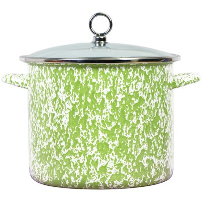 Lewand Steel Stock Pot with Lid Capacity: 1.5 Quarts, Color: Lime