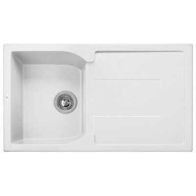 "Granite Composite 34"" L x 19"" W Drop-In Kitchen Sink"