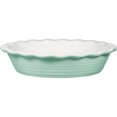 Non-Stick Embossed Rings Pie Plate Color: Mint Green