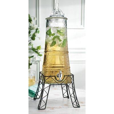 Mccutchen Eiffel Tower Beverage Dispenser on Stand