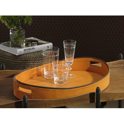 Barclay Butera Lifestyle Equestrian Oval Serving Tray