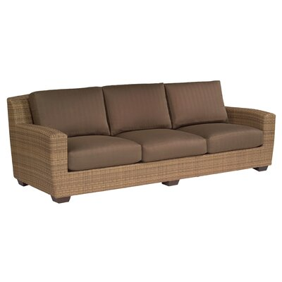 Saddleback Patio Sofa with Cushions Fabric: Scoop Timber Weather Tex