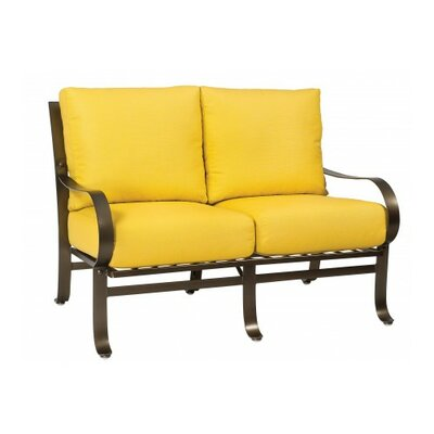 Cascade Loveseat with Cushions Fabric: Paris Honeydew