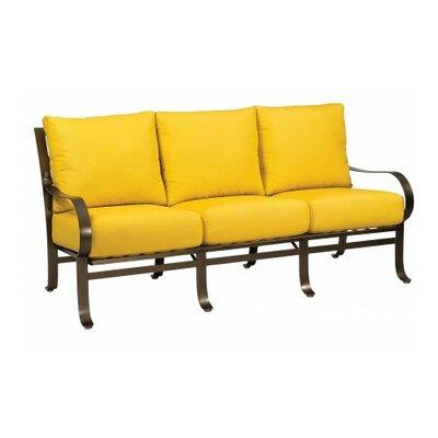 Cascade Sofa with Cushions Fabric: Canvas Bird's Eye