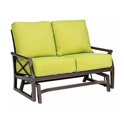 Andover Gliding Loveseat with Cushions Fabric: Canvas Palm