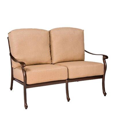 Casa Loveseat with Cushions Fabric: Bevel Indigo