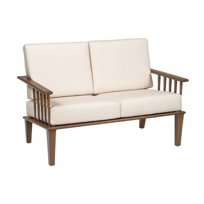 Van Dyke Loveseat with Cushions Fabric: Bevel Indigo