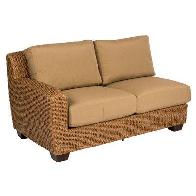 Saddleback Left Arm Sectional Piece with Cushions Cushion Color: Canvas Spa