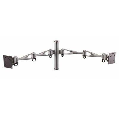 Cotytech Height Adjustable 2 Screen Wall Mount