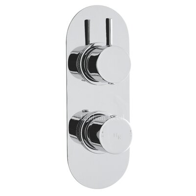 Hudson Reed Clio Twin Concealed Shower Valve with Diverter