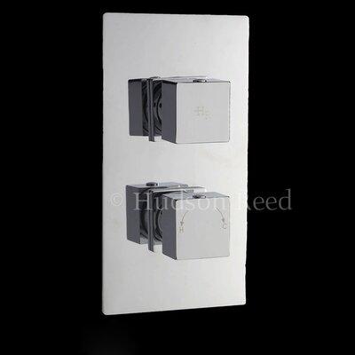 Hudson Reed Kubix Twin Concealed Shower Valve with Diverter