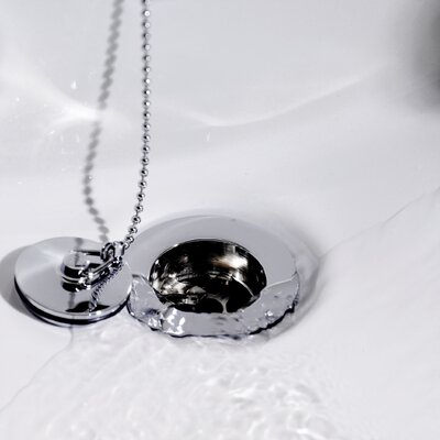 Hudson Reed Basin Waste with Brass Plug and Ball Chain in Chrome