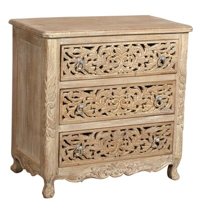Aveliss 3 Drawer Accent Chest Color: White Antique