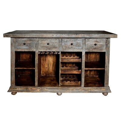 Rhoades 4 Drawer Bar Cabinet