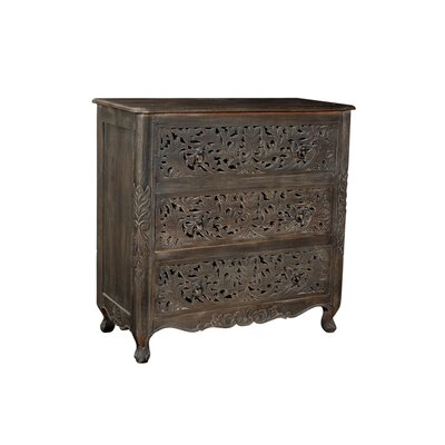 Aveliss 3 Drawer Accent Chest Color: Ebony