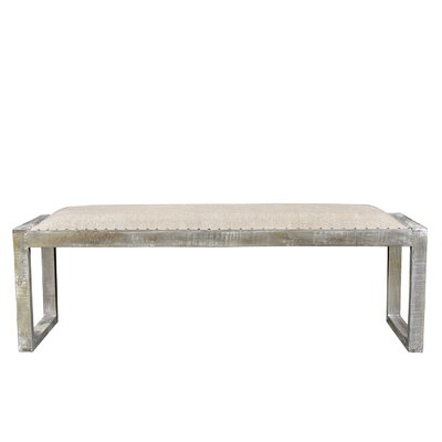 Izmir Wood Bench Color: Gray
