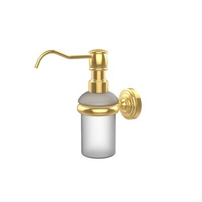 Waverly Place Wall Mounted Soap Dispenser Finish: Polished Brass