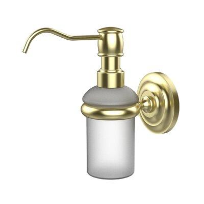 Universal Wall Mounted Soap Dispenser Finish: Satin Brass